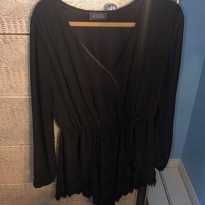 Black long sleeve romper bought from Nordstrom